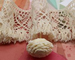 Des prix concurrentiels de haute qualité 5,5 cm Crochet dentelle de coton pour la décoration