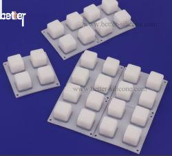 Silikon-Gummi-Tastatur der LED-Musik-2X2 lichtdurchlässige
