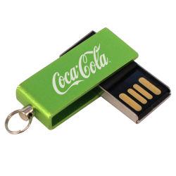 MetallTwister Pendrive Schwenker USB-Blitz-Laufwerk mit Laser-Firmenzeichen