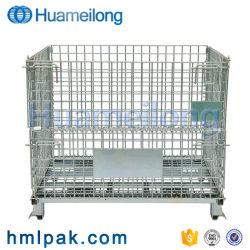 Huameilong a buon mercato ricicla il contenitore pieghevole di contenitore della maglia del filo di acciaio di trasporto