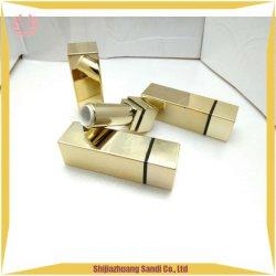 Cassa lucida del rossetto dell'oro del rossetto del contenitore quadrato del tubo