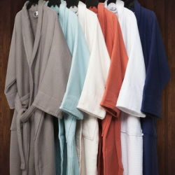 Super мягкость твердых красочные свадебные халаты для пар