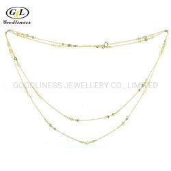 Silber Schmuck Frauen Multi Layer Choker Halskette