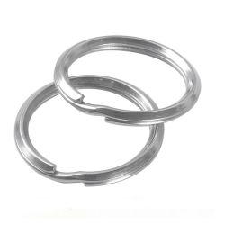 La Ronda de alta calidad de Metal Llavero Llavero de acero el anillo partido