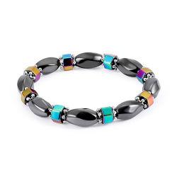 Les femmes colorée de l'Hématite magnétique Bracelet réglable pour la guérison de la fatigue