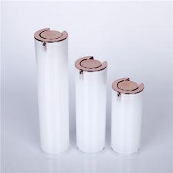 Ronda clássico vazio de White 50ml30ml15ml de parede dupla de acrílico vaso de cosméticos de luxo