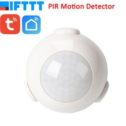 Batería de vida inteligente Powered WiFi Tuya Sensor de movimiento PIR Detector Sistema de Alarma de casa trabajando con Ifttt