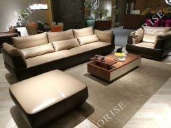 Nueva sección multifunción moderno sofá de cuero con el reproductor de música