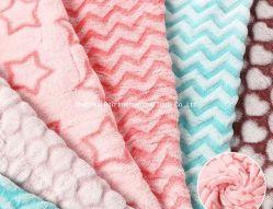 قماش Fashion Garment Fabric ثلاثي الأبعاد مع قماش Fleece Velvet وثير