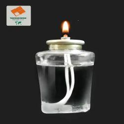 Commerce de gros de l'huile de paraffine liquide de longue durée des bougies de cire de bougie blanche Pot bougie en verre dépoli
