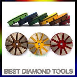"""3 """" Metal Vecro Retour Diamond plancher de béton avec disque de meulage 10 Segment diamant Vecro Backer 6# Grit"""