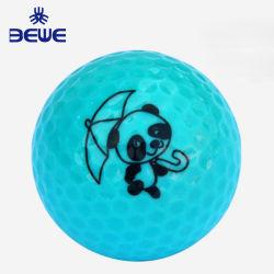 Commerce de gros articles-cadeaux personnalisés colorés Crystal Balle de Golf