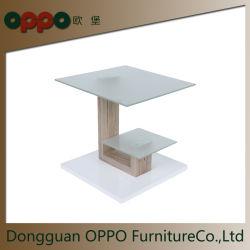 Carré de verre de café de table avec 2 couches d'Ameublement mobilier intérieur