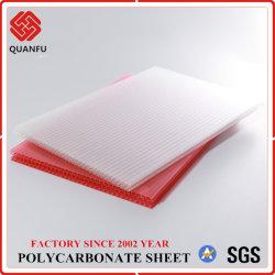 La Chine Quanfu Multi-Color polycarbonate alvéolaire Feuille de PC pour la couverture