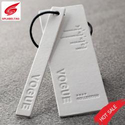 Fashion Clothing Custom Printed Debossed Logo Golden Hot Stamping Paper Hang Tag
