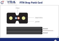 FTTH Hersteller Patchcord Faser-aus optischen Fasern Optiktransceiverkabel/Überbrückungsdraht/Steckschnür