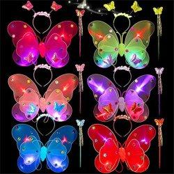 Las niñas Butterfly Ángel traje ala etapa Conjunto de accesorios de disfraces de Halloween