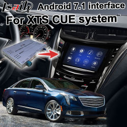 キャデラック XTS キューシステムアップグレードカープレイナビゲーション WiFi ミラーリンク HD 1080p ビデオインターフェースボックス用 Lヨット Android GPS ナビゲーションシステムボックス