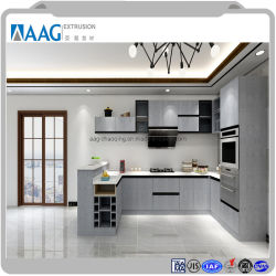 Casa moderna de la moda de la unidad de cocina Muebles de aluminio, Armario de Cocina