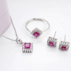 2020 stellten Großhandelsder form-Edelstein-Schmucksache-Halsketten-Ohrring-Ring-Hochzeits-Schmucksachen mit Korund ein