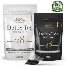 解毒の茶28日最終的なTeatox -脂肪質焼跡減量を加速すれば、コロンは平らなおなか清潔になり、-おいしい容易な醸造物および好み