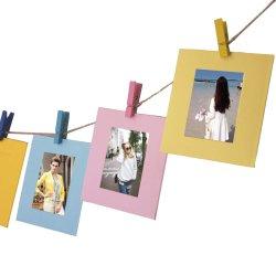 Decoración de pared DIY Mini creativo Marco de fotos de papel