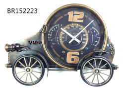 Modelo de coche moderno Reloj de pared de metal para decorar
