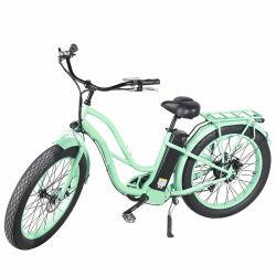 26inch電気浜の巡洋艦の自転車の電気女性のバイク