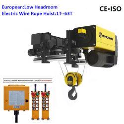 Mhtool 12,5 Tonnen European Standard Electric Wire Hoist mit Ce-Zertifikat für Single Rail Electric Trolley