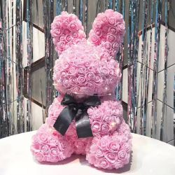 In het groot Doll 50cm nam Gift van de Decoratie van Kerstmis van de Teddybeer de Konijn Gepersonaliseerde toe