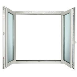 二重ガラスをはめられたPVC Windows UPVCのプラスチックドアの価格