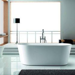 Акрил отдельно стоящая ванна с длинными Drainer наклона