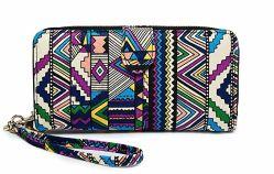 Monedero de tela de flores a las mujeres señoras bolso de moda carteras Bolso (Biblioteca Digital Mundial1492)