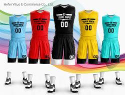 Numéro Nom de marque de piqûre brodés personnalisés Vêtements de basket-ball Polyester Mettre en place