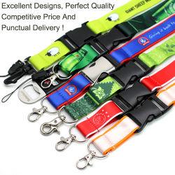 Migliore sagola su ordinazione di vendita del regalo di scheda del poliestere promozionale del supporto con il marchio stampato