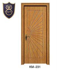 La conception personnalisée de bonne qualité en bois de l'intérieur les portes en PVC