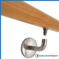 Corrimão da escada de aço inoxidável entre parêntesis as conexões do Corrimão em stock