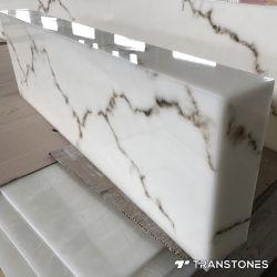 ورقة أكريليك شفافة من الحجر الصناعي Transtones لقمم الطاولة