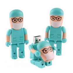 Cartoon Robot Stick USB Infirmière Médecin usb disque U personnalisé