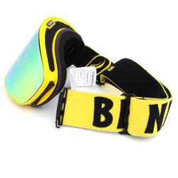 De volledige UVBeschermende brillen van de Ski van de Helm van de Bescherming Openlucht Compatibele met Beschermende brillen van de Sneeuw van de Mist van de Lens van de Deklaag van de Spiegel de Vrije