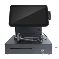 OEM 500GB HDD POS 끝 2g 시스템 인쇄 기계에 하나에서 15.6 인치 접촉 System/POS Machine/POS 전부