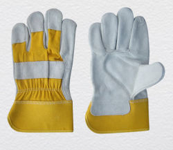 Croûte de cuir de vache à usage intensif de gant de travail de la sécurité industrielle avec la CE a approuvé