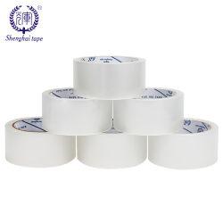 Doos die Met geringe geluidssterkte van het Karton van de Band van de Verpakking OPP BOPP van de douane de Stille Geelachtige Verschepende Zelfklevende Verpakkende Band verzegelt