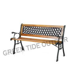 Banco di legno di legno esterno 2-Seater del banco di sosta della presidenza di giardino del ghisa
