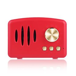 좋은 품질 크리스마스를 위한 TF 카드 최고 창조적인 선물을%s 가진 소형 Retro 휴대용 무선 액티브한 오디오 Bluetooth 스피커 사운드 박스