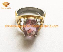 De Gietende Ring van de Juwelen van het Lichaam van het Roestvrij staal van Jewellry van het Lichaam van juwelen met Purpere Steen SCR2893