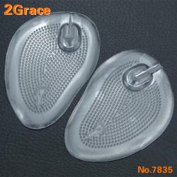自己接着柔らかいシリコーンの皮ひものサンダルの双安定回路のゲルはForefootのクッションの靴の中敷のスリップ防止靴のグリップのパッド、靴のゲルのパッドを挿入する