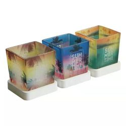Portavelas de vidrio de colores velas aromáticas de vidrio de la copa la Maceta