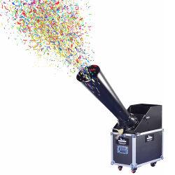 Grande étape de haute qualité de CO2 Confetti Cannon de la machine de l'équipement de pulvérisation de papier souffler Effet avec Flight Case pour l'événement célébration concert