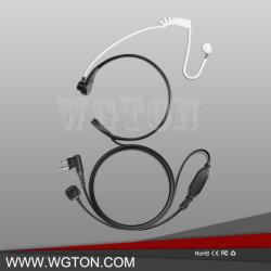 指Pttが付いている対面無線の喉のマイクロフォンのヘッドホーン